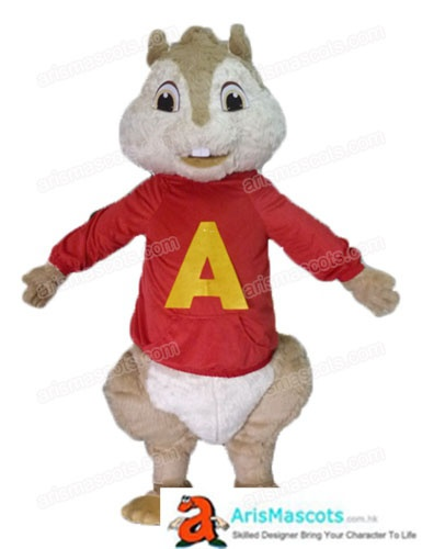 Adult Alvin And The Chipmunks Costume For Sale Cartoon Mascot Costumes Outfit For Party Custom Mascots